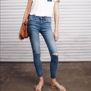 Madewell high riser skinny distressed